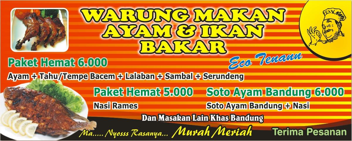 Ukuran Banner Warung Makan - Contoh Banner